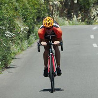 Going downhill safely on a road bike