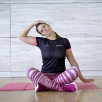 Stretching and workouts for cyclist